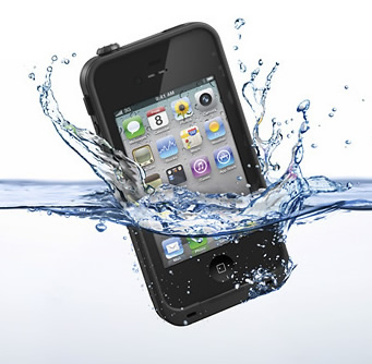 iphone falling into water